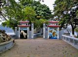Entrance gate to Den Ngoc Son
