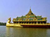 Floating restaurant on Lake Kan Daw Gyi