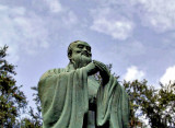 Statue of Confucius, close up