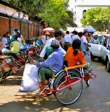 Three wheeled taxi