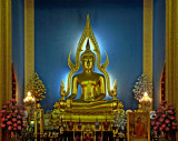 Main Buddha image of the temple