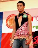 Condom costume on stage
