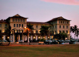 Galle Face Hotel at dusk
