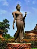 Walking Buddha image