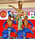 Three male Thai dancers
