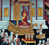 Mural of the Buddha enthroned
