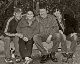 Friends on Henry Crescent in Moosonee