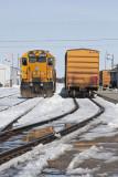 Polar Bear Express:  locomotive and passenger section
