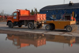 Truck and road roller 2009 May 25