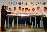 Remise officielle du Trophée Jules Verne à l'équipage du maxi trimaran Groupama 3