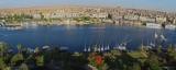 Panorama de la ville d'Assouan et du Nil