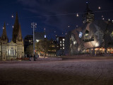 Federation Square showing St Pauls Cathedral