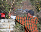 Village archery contest, Paro Valley