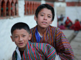 Boys at Kyichu Lhakhang