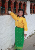 Girl at Kyichu Lhakhang