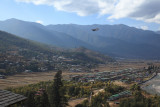 Druk Air landing over Paro town