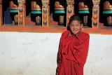 Young monk, Paro Dzong