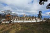108 chortens at Dochu La (pass)