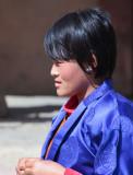 Girl at Black-necked Crane Festival