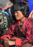 Young girl, Black-necked Crane Festival