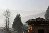 Misty sunrise in Thimpu