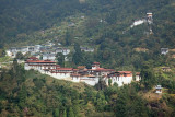 Trongsa Dzong from the Mangde Chhu valley