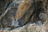 Modern rock inscription
