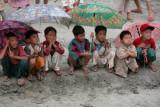 Nwenyein kids braving the rain