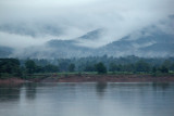 A misty Irrawaddy landscape