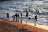 Evening swim, Sinquerim Beach