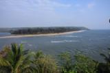 Querim Beach from Fort Tirakol