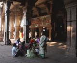 Sri Ranganathaswamy courtyard