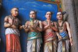 Splendid painted temple carvings
