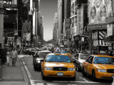 Yellow Cabs, Times Square, New York, New York