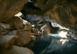 Underground geothermal pond