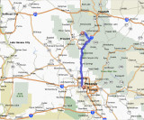 Map from Phoenix to Jerome