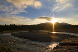 River Dulnain at Sunset