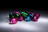 Light Painted Candy Eggs
