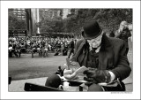 old music lover, bryant park, nyc