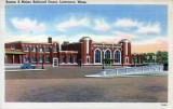 Postcard of the (new) South Lawrence B&M Station