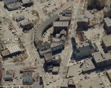 Aerial view of Opera House site today