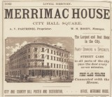 Ad for the Merrimac House