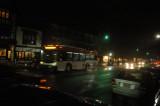 Bus leaving city