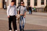 Couple at Paris Square