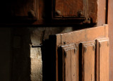 Typical door house in Castilla