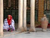 Woman at  Mausoleum of Sidi Sahab - Kairouan