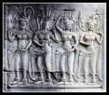 Angkor Wat Aspara Carvings, Cambodia