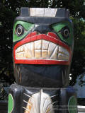 Indian totem pole, North Vancouver, Canada