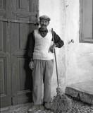 Street sweeper  Rhodes ,Greece 1955