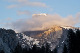Half Dome with clouds